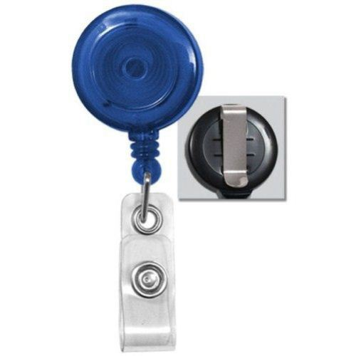 Royal Translucent Round Badge Reel with Belt Clip - 25pk (2120-3602) Image 1