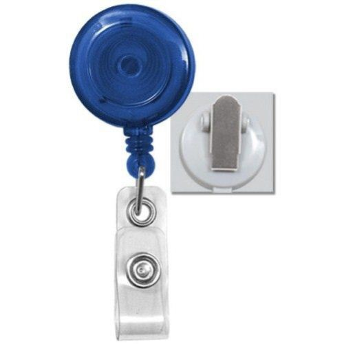 Royal Translucent Round Badge Reel with Spring Clip - 25pk (2120-4732) Image 1