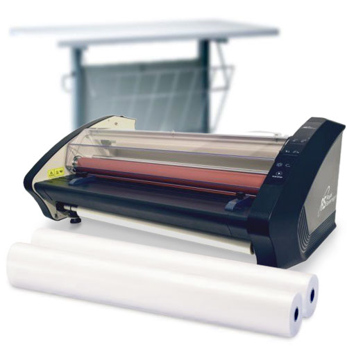 Royal Sovereign Commercial Grade School Laminator Starter Kit with 4 Rolls of Film and Optional Work Station (RSL-ALEXIS-K) Image 1