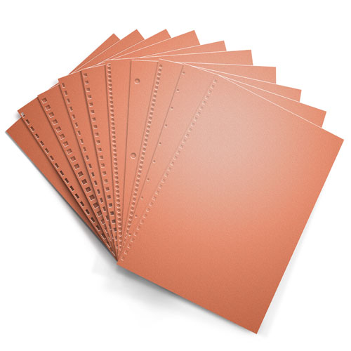 Salmon 20lb Punched Binding Paper - 500 Sheets (PPP20DMSA) Image 1