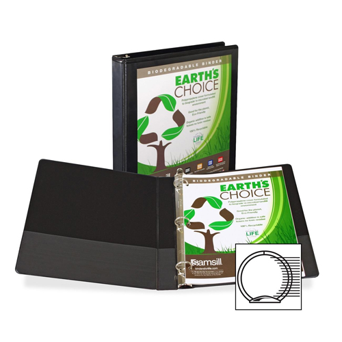 Samsill Black Earth's Choice Insertable Round Ring View Binder (SAM-BECIRRVB) Image 1
