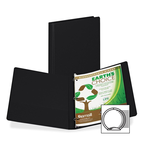 Samsill Black Earth's Choice Round Ring Storage Binder - 12pk (SAM-BECRRSB) Image 1