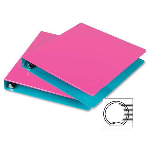 Samsill Berry/Turquoise Fashion Two-Tone Round Ring View Binders - 6pk (SAM-BTFTTRRB) Image 1