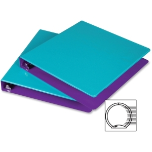 Samsill Turquoise/Purple Fashion Two-Tone Round Ring View Binders - 6pk (SAM-TPFTTRRVB) Image 1