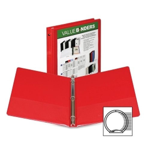 "Samsill 1/2"" Red Economy Insertable Round Ring View Binder - 12pk (SAM-18513) Image 1"