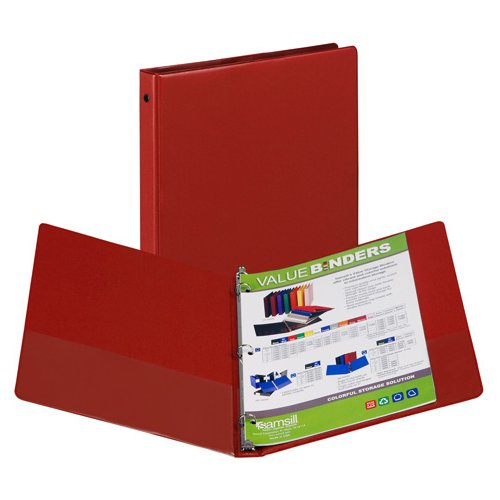 Red Samsill Ring Binders Image 1