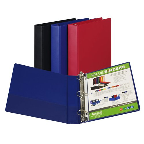 "Samsill 1.5"" Assorted Value Plus Angle-D Ring Storage Binder - 12pk (SAM-16659) Image 1"