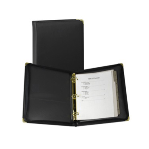 "Samsill 1.5"" Black Zippered Ring Binder Portfolio - 5pk (SAM-15250) Image 1"
