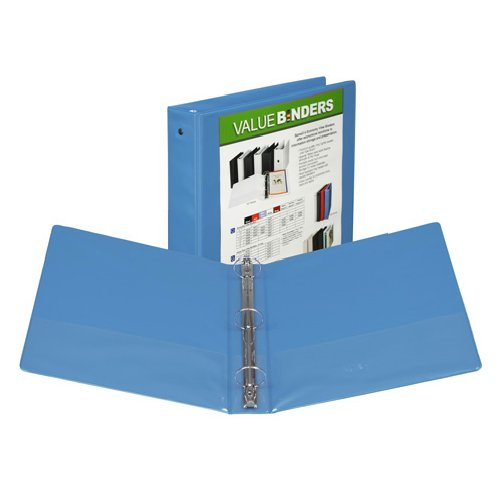 "Samsill 1.5"" Blue Economy Insertable Round Ring View Binder - 12pk (SAM-18555) Image 1"