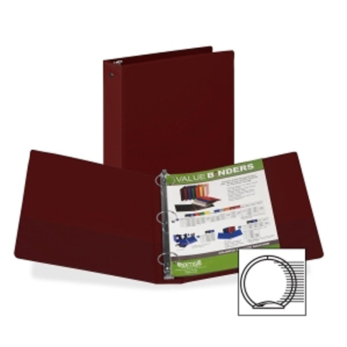 "Samsill 1.5"" Burgundy Value Round Ring Storage Binder - 12pk (SAM-11515) Image 1"