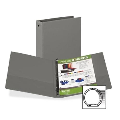 Samsill Gray Value Round Ring Storage Binder (SAMVALRRINGGRY), Samsill brand Image 1