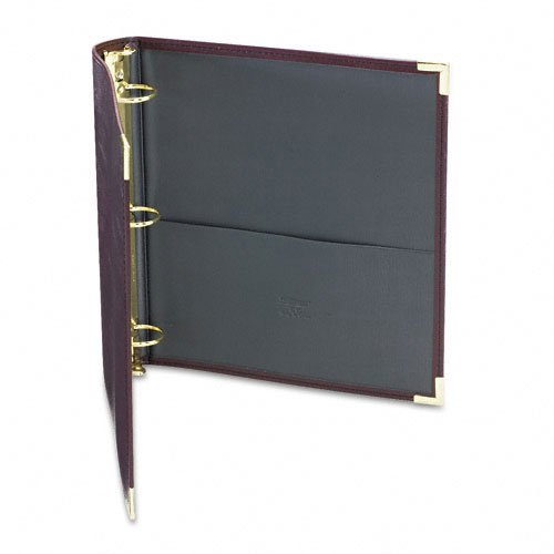 Burgundy Round Ring Binder Image 1