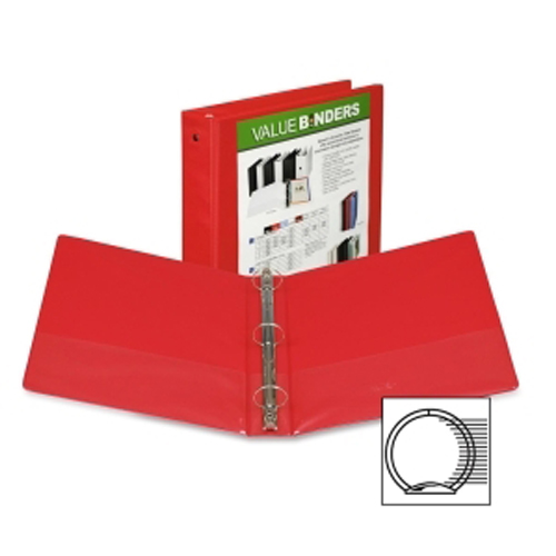"Samsill 1.5"" Red Economy Insertable Round Ring View Binder - 12pk (SAM-18553) Image 1"