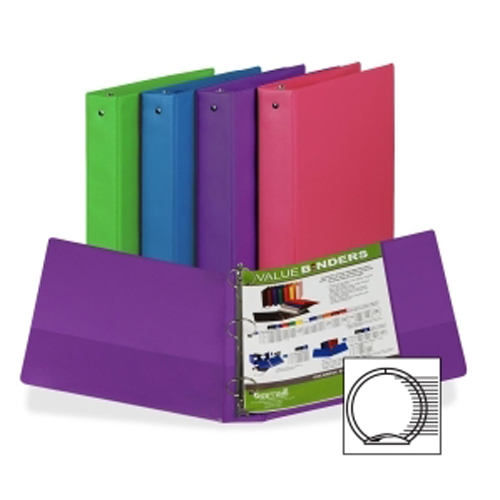 "Samsill 1.5"" Value Round Ring Assorted Fashion Storage Binder - 12pk (SAM-11599) Image 1"
