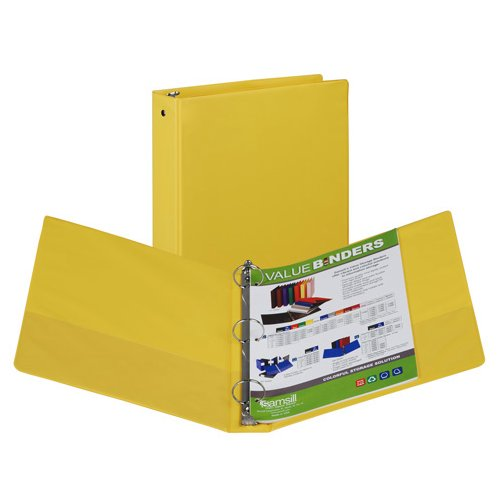 Yellow Ring Binders Image 1