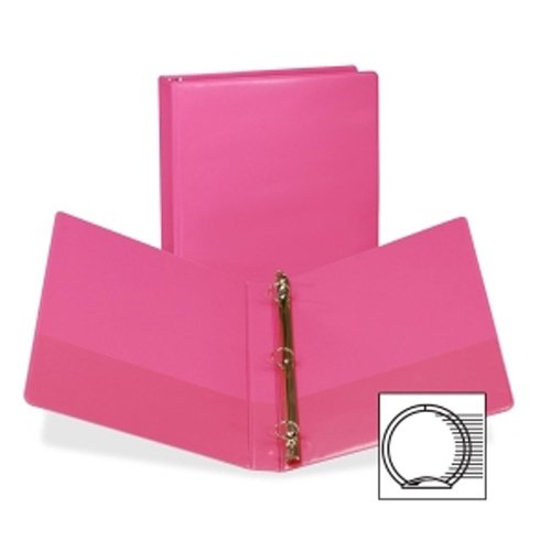"Samsill 1"" Berry Fashion Presentation Round Ring View Binder - 6pk (SAM-U86376) Image 1"