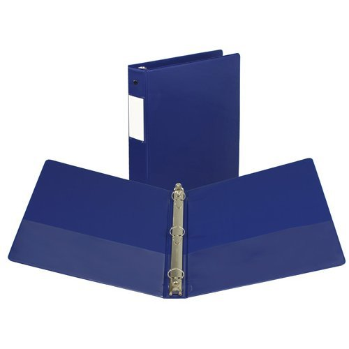 "Samsill 1"" Blue Value Plus Round Ring Binder w/ Label Holder - 24pk (SAM-16132) Image 1"