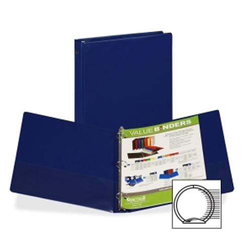 "Samsill 1"" Blue Value Round Ring Storage Binder - 24pk (SAM-11302) Image 1"
