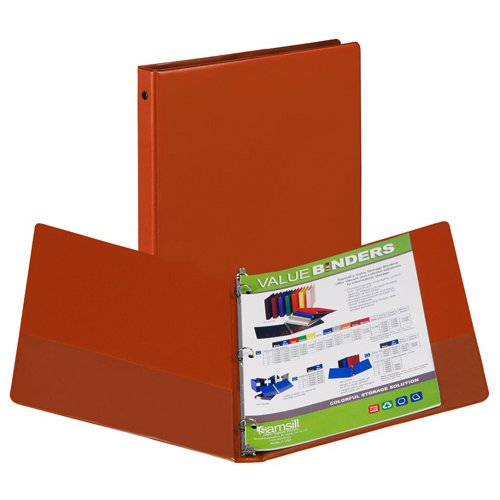 Samsill Burnt Orange Value Round Ring Storage Binder - 12pk (SBOVRRSB-12) Image 1