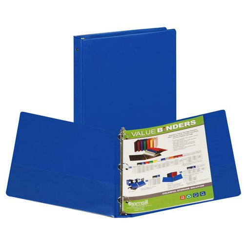 "Samsill 1"" Cobalt Value Round Ring Storage Binder - 24pk (SAM-11361) Image 1"
