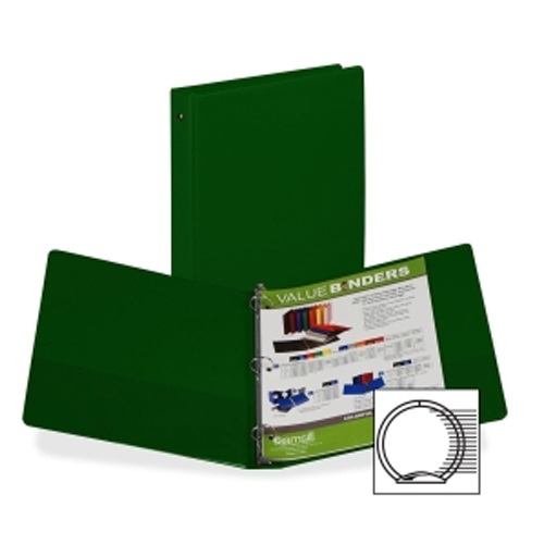 "Samsill 1"" Green Value Round Ring Storage Binder - 24pk (SAM-11304) Image 1"