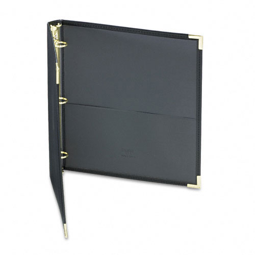 "Samsill 1"" Black Classic Collection Ring Binder Portfolio - 15pk (SAM-15130) Image 1"