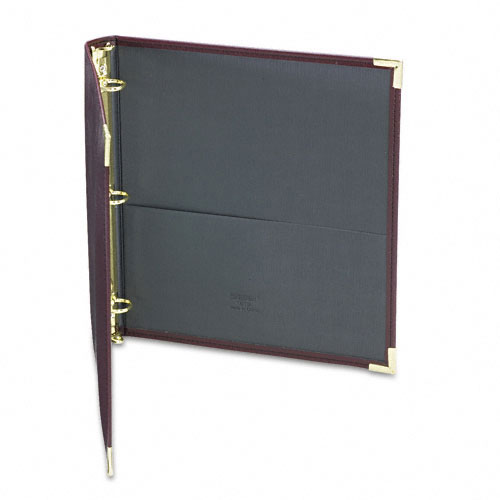 "Samsill 1"" Burgundy Classic Collection Ring Binder Portfolio - 15pk (SAM-15134) Image 1"
