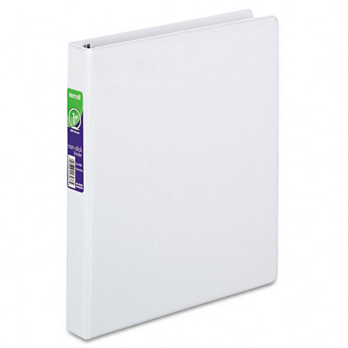 "Samsill 1"" White Nonstick Round Ring View Binder - 12pk (SAM-18437) Image 1"