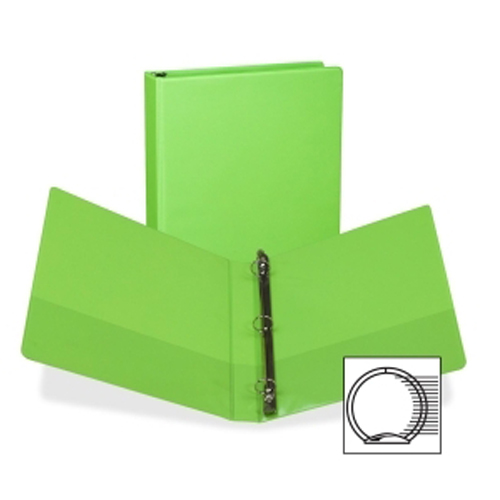 "Samsill 1"" Lime Green Fashion Presentation Round Ring View Binder - 6pk (SAM-U86378) Image 1"