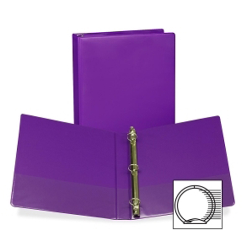 Samsill Purple Fashion Presentation Round Ring View Binder - 12pk (SAMFPRRINGPUR) Image 1