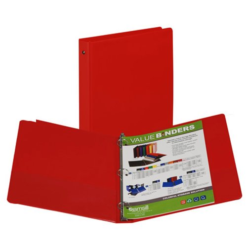 "Samsill 1"" Red Value Round Ring Storage Binder - 24pk (SAM-11303) Image 1"