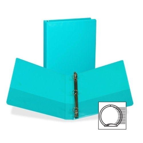 "Samsill 1"" Turquoise Fashion Presentation Round Ring View Binder - 6pk (SAM-U86377) Image 1"