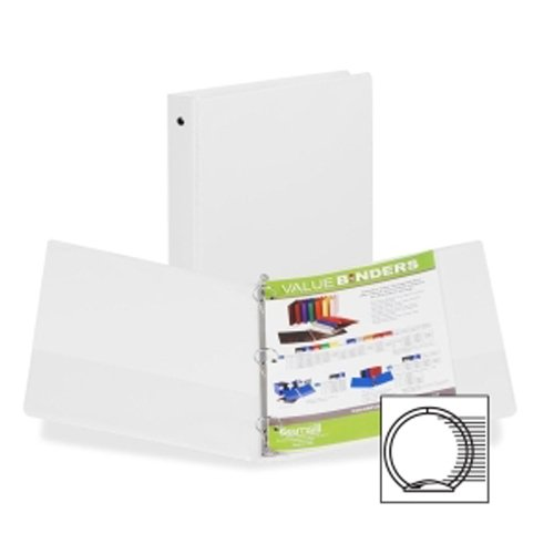 "Samsill 1"" White Value Round Ring Storage Binder - 24pk (SAM-11307) Image 1"