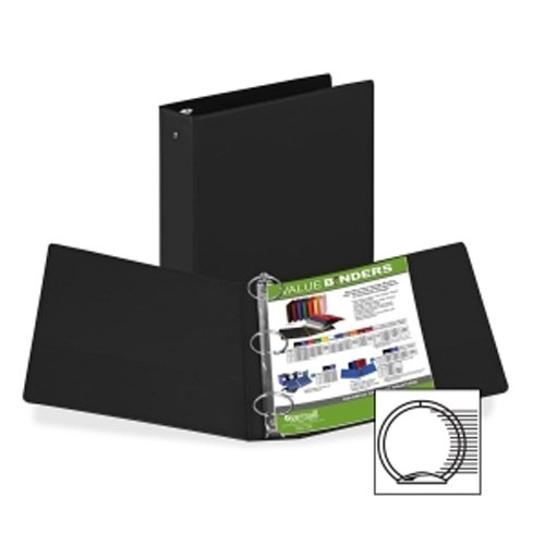 "Samsill 2"" Black Value Round Ring Storage Binder - 12pk (SAM-11600) Image 1"