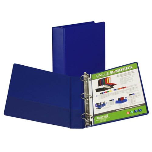 Samsill Blue Value Plus Angle-D Ring Storage Binder (BL-SVPDRSB) Image 1