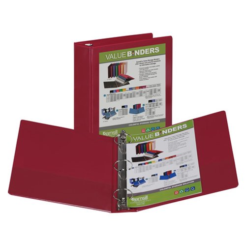 Samsill Burgundy Insertable Locking Round Ring View Binder (BUR-SILRRVB) Image 1