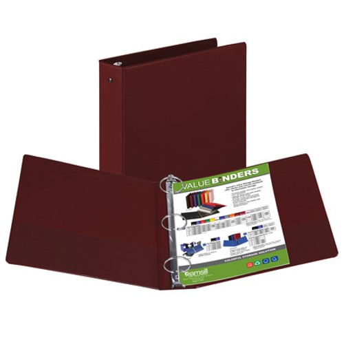 "Samsill 2"" Burgundy Value Round Ring Storage Binder - 12pk (SAM-11615) Image 1"