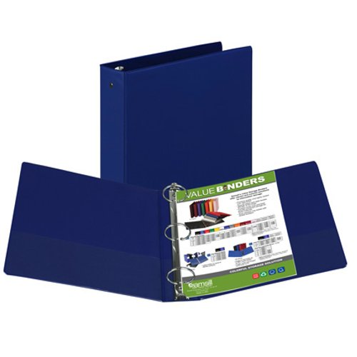 "Samsill 2"" Dark Blue Value Round Ring Storage Binder - 12pk (SAM-11602) Image 1"
