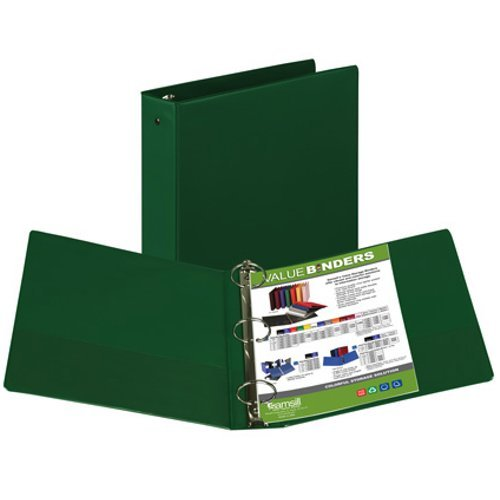 "Samsill 2"" Green Value Round Ring Storage Binder - 12pk (SAM-11604) Image 1"