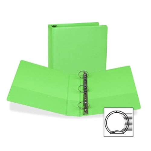 "Samsill 2"" Lime Fashion Presentation Round Ring View Binder -6pk (SAM-U86678) Image 1"