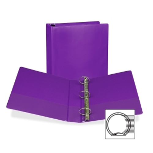 "Samsill 2"" Purple Fashion Presentation Round Ring View Binder -6pk (SAM-U86608) Image 1"