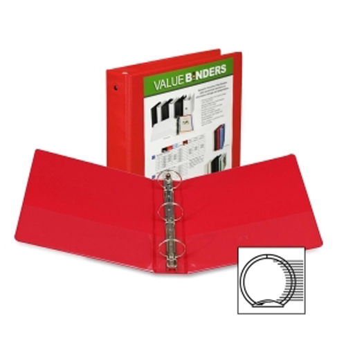 "Samsill 2"" Red Economy Insertable Round Ring View Binder - 12pk (SAM-18563) Image 1"