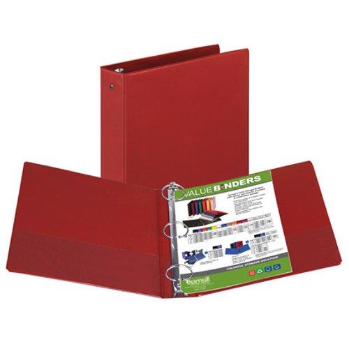 "Samsill 2"" Red Value Round Ring Storage Binder - 12pk (SAM-11603) Image 1"