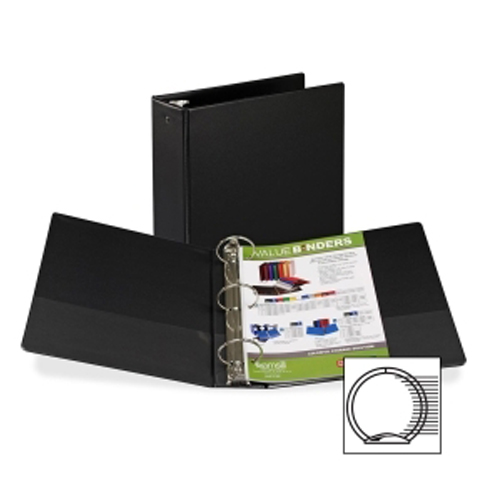 "Samsill 3"" Black Value Round Ring Storage Binder - 12pk (SAM-11800) Image 1"