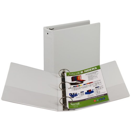 "Samsill 3"" White Value Round Ring Storage Binder - 12pk (SAM-11807) - $72.37 Image 1"