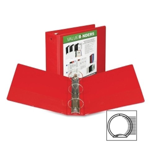 "Samsill 4"" Red Economy Insertable Round Ring View Binder - 6pk (SAM-18593) Image 1"