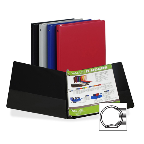 "Samsill 1/2"" Assorted Value Round Ring Storage Binder - 12pk (SAM-11109) - $25.6 Image 1"