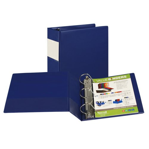 Samsill Blue Value Plus Angle-D Ring Binder with Label Holder (BL-SVPADRBLH) Image 1