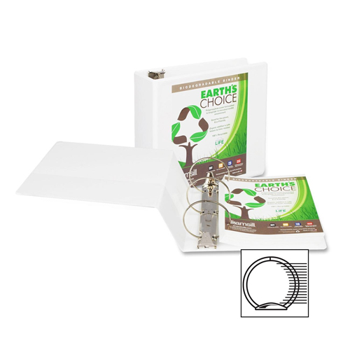 "Samsill 5"" White Earth's Choice Biodegradable Round Ring View Binder - 6pk (SAM-18907) Image 1"