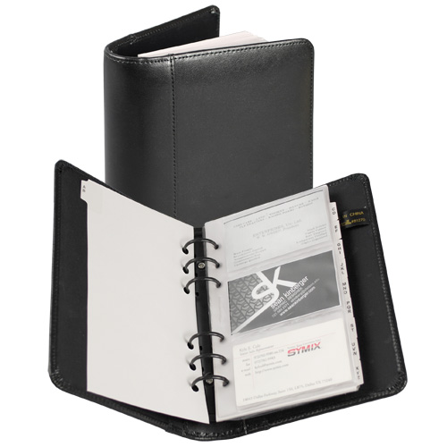 Samsill Black Regal Leather Business Card Binder - 20pk (SAM-81270) Image 1